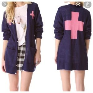 New! Wildfox Love Saves Lives Cardigan
